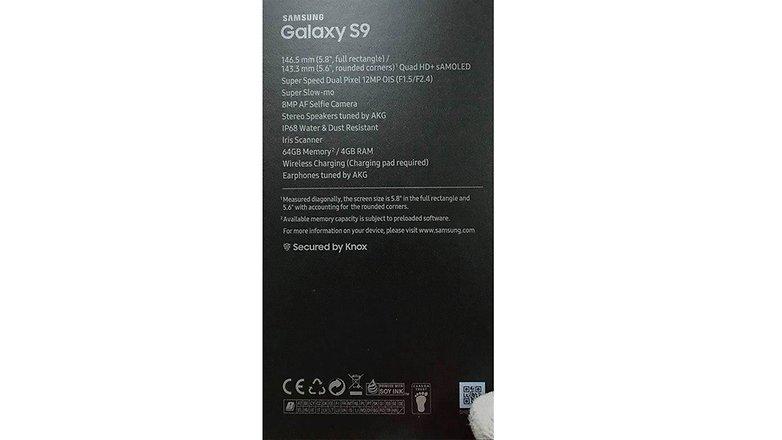 galaxyS9 box