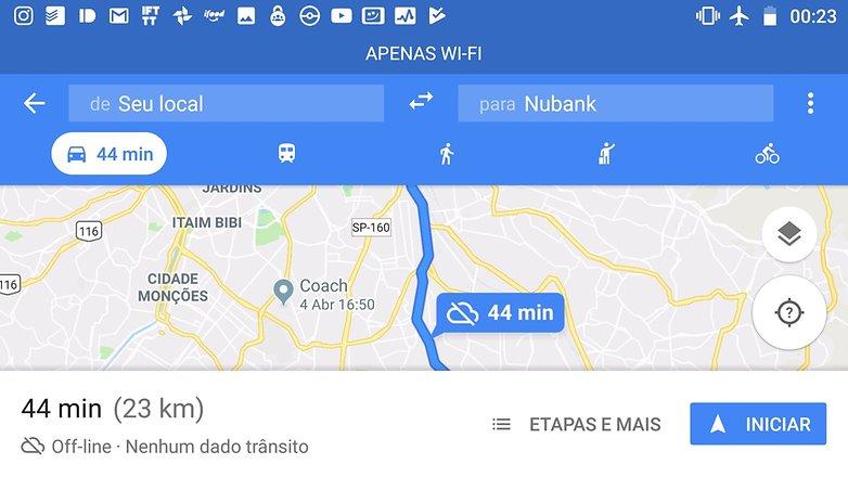 google maps aviao