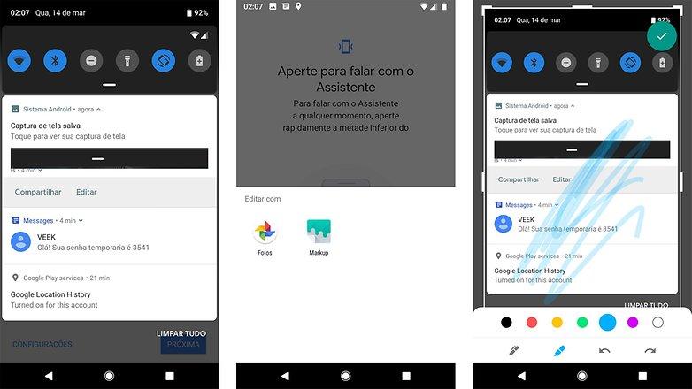 screenshot androidp