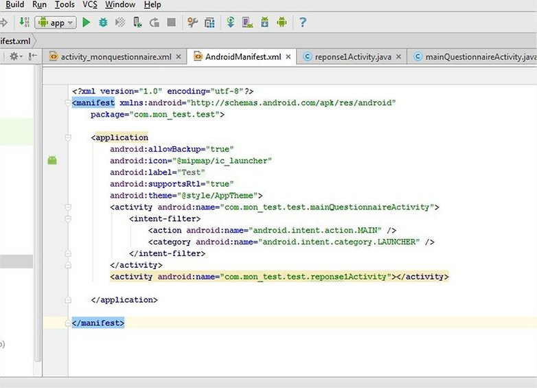 androidpit android studio manifest