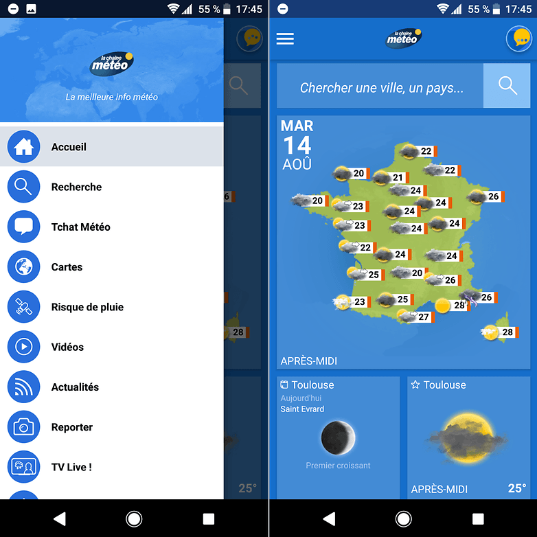 androidpit chaine meteo