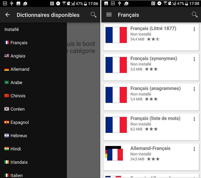 androidpit dictionnaires horsligne fr