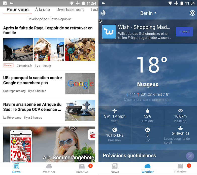 androidpit meteo gratuite meteo widget