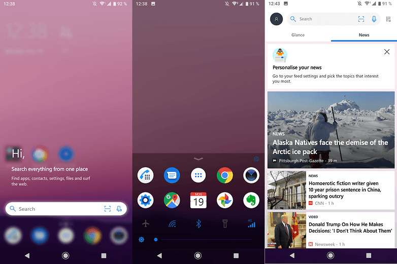 androidpit microsoft launcher
