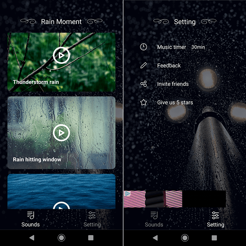 androidpit rain moment