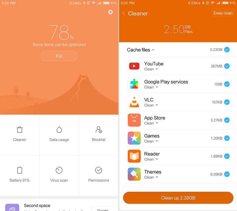 androidpit xiaomi mi max 2 security app