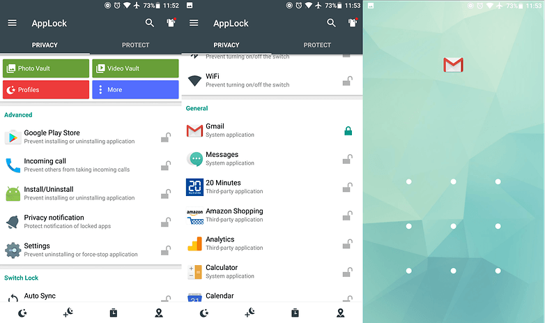applock gmail