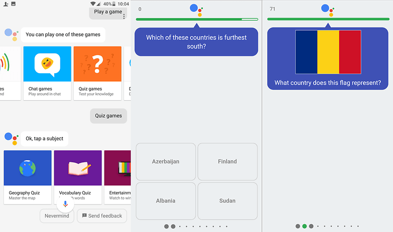 google assistant quiz