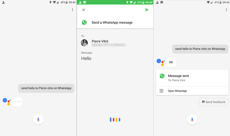 google assistant whatsapp