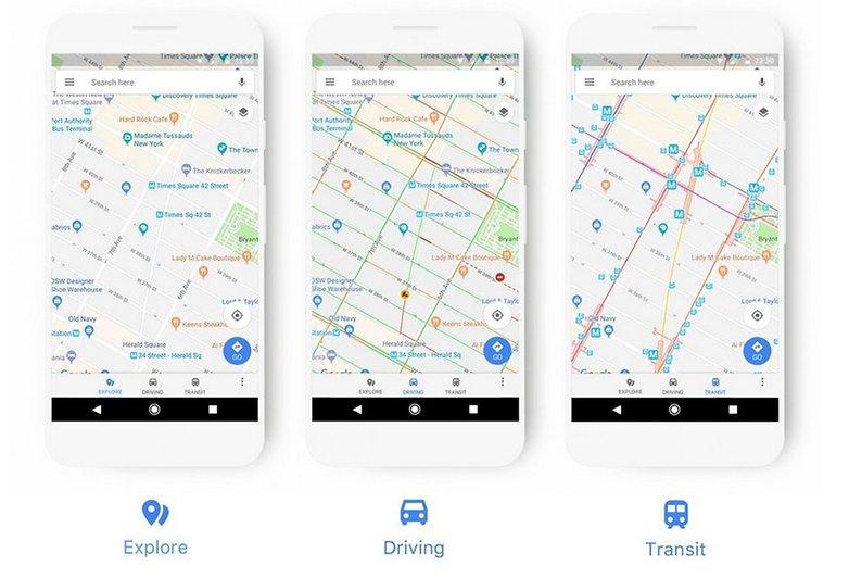 google maps new look