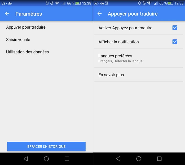 google traduction config