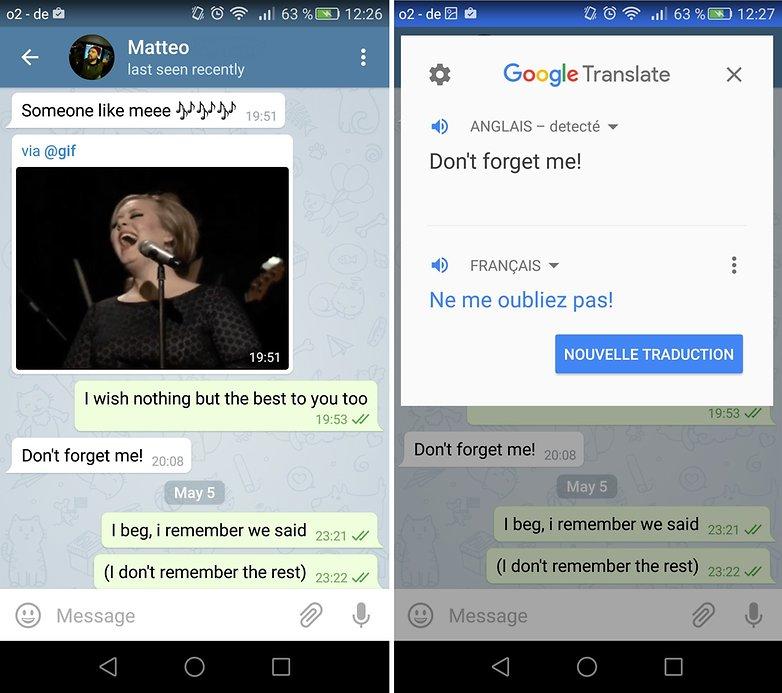 google traduction tap