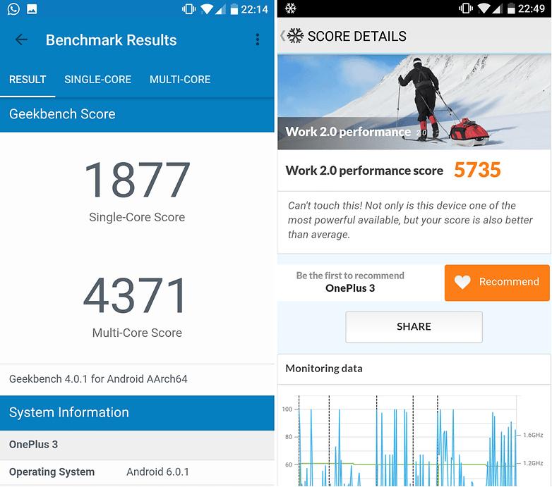 oneplus 3t benchmark scores