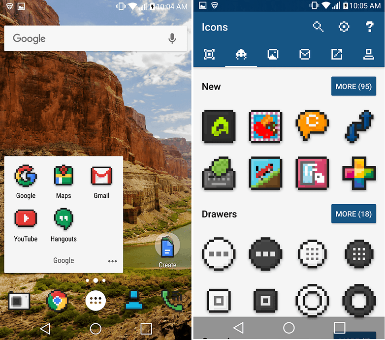 pixels icons pack