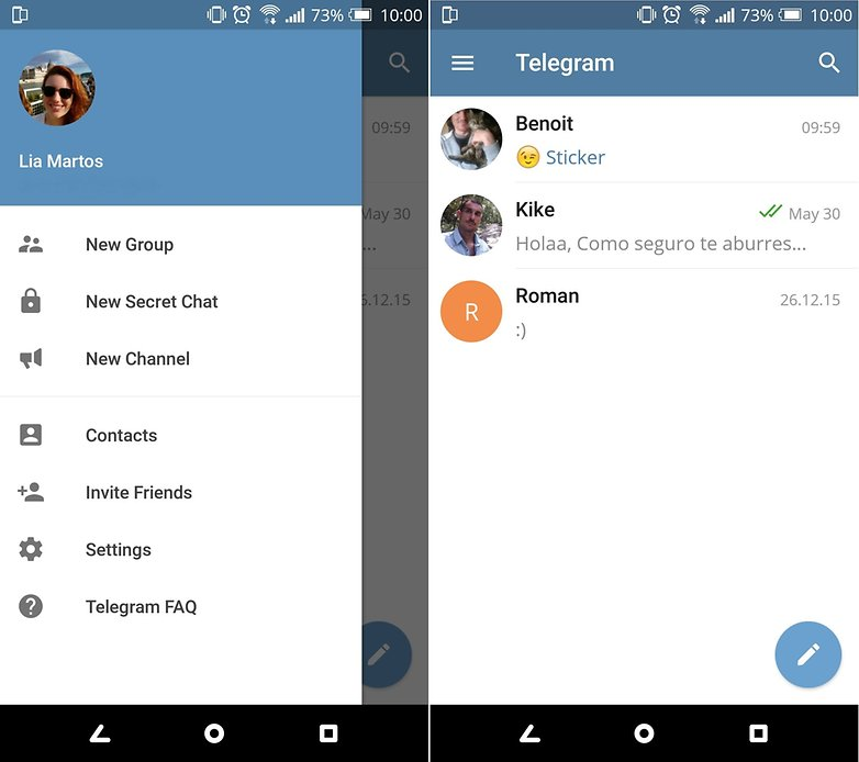 telegram contacts en