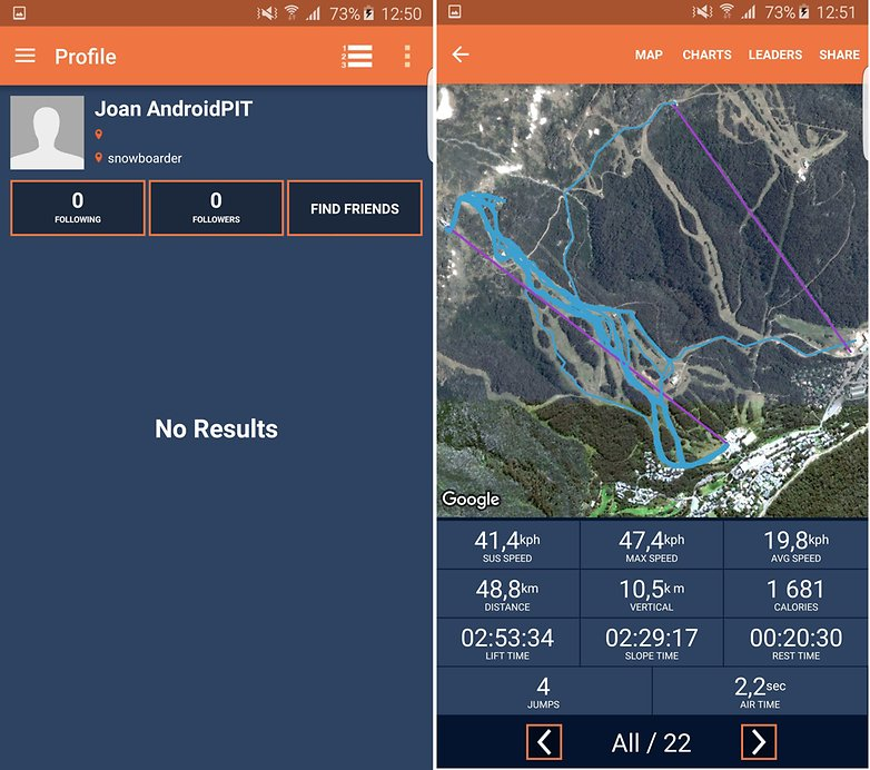 trace snow ski snowboard track