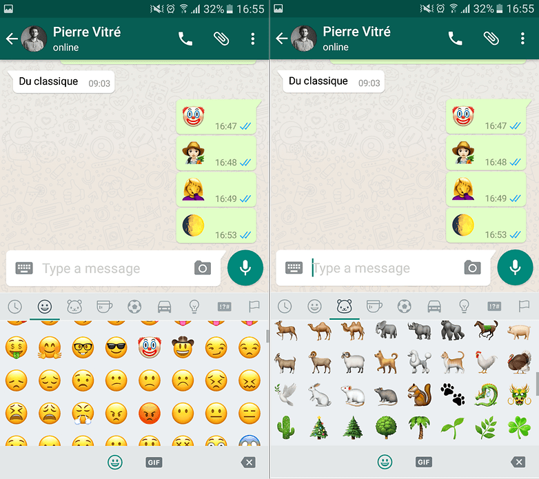 Emoticons beta do WhatsApp