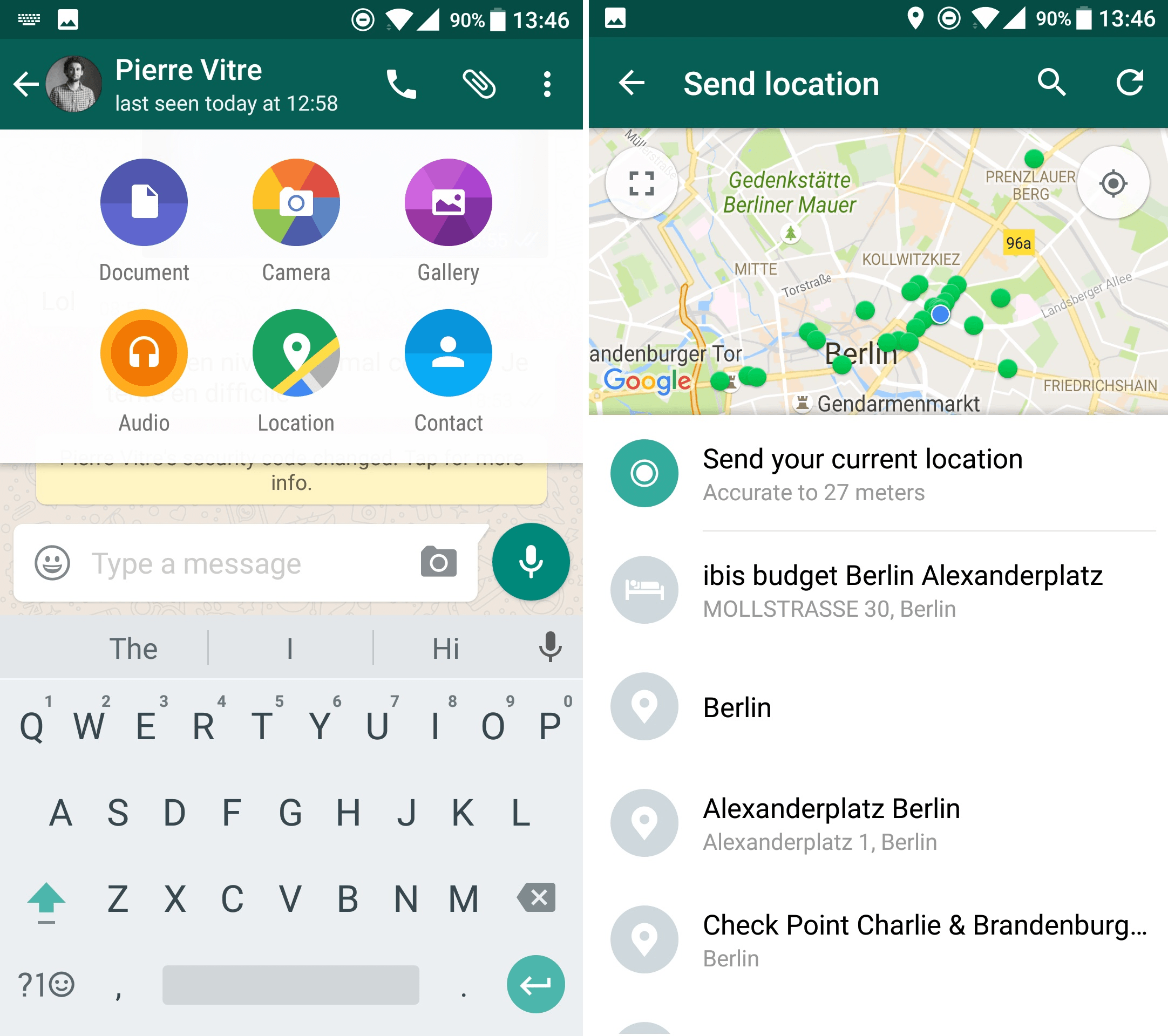 WhatsApp location for Motorola Moto G7