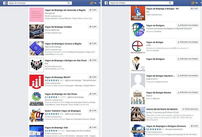 Facebook empregos