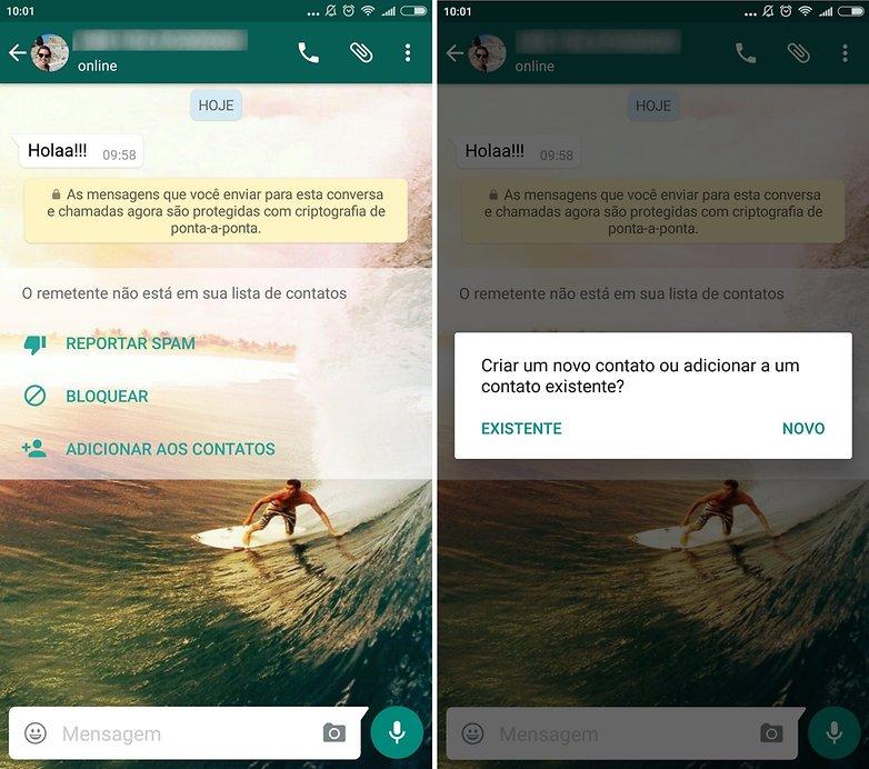 androidpit whatsapp novo interfaz contato