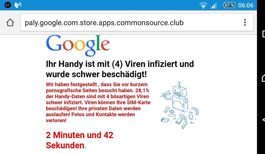 Virusmeldung Von Google