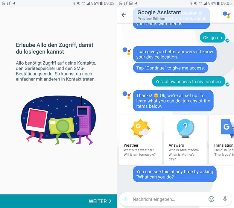 ANDROIDPIT allo screenshots