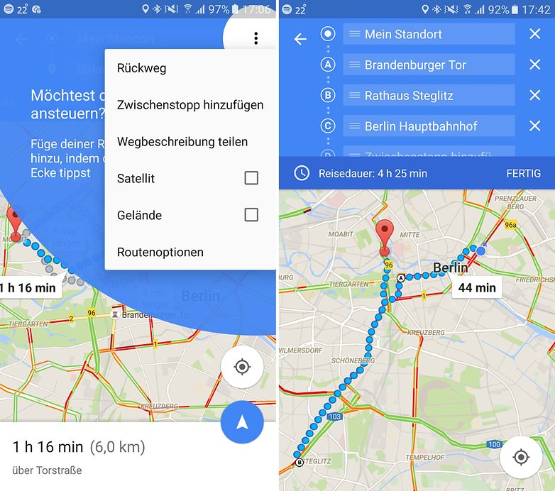 ANDROIDPIT google maps zwischenstopps 2