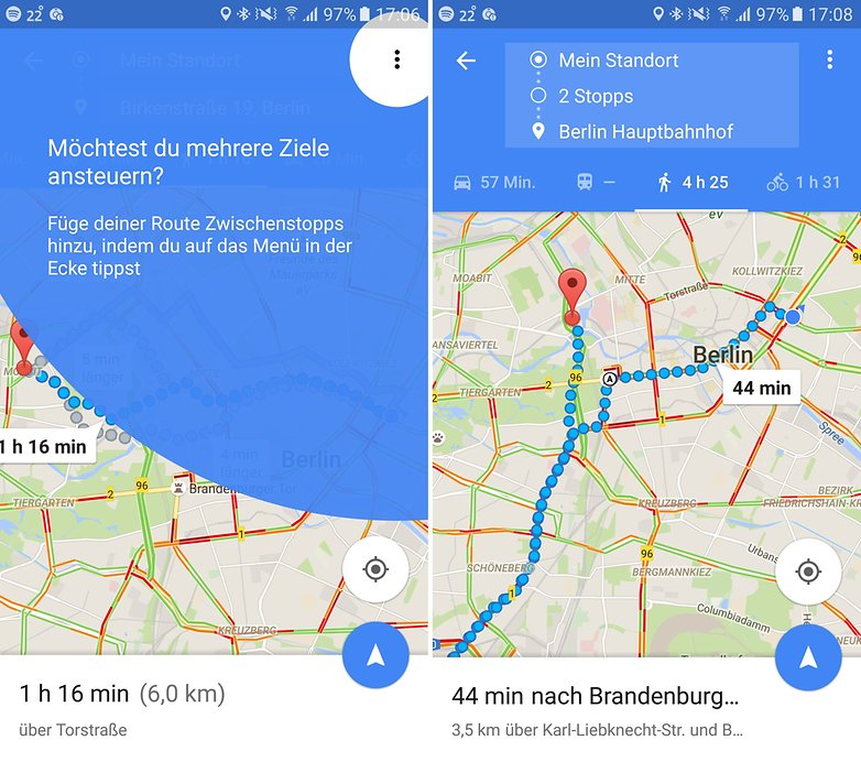 ANDROIDPIT google maps zwischenstopps