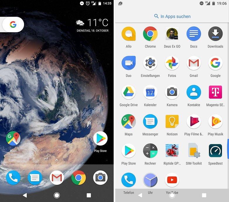 ANDROIDPIT google pixel homescreen