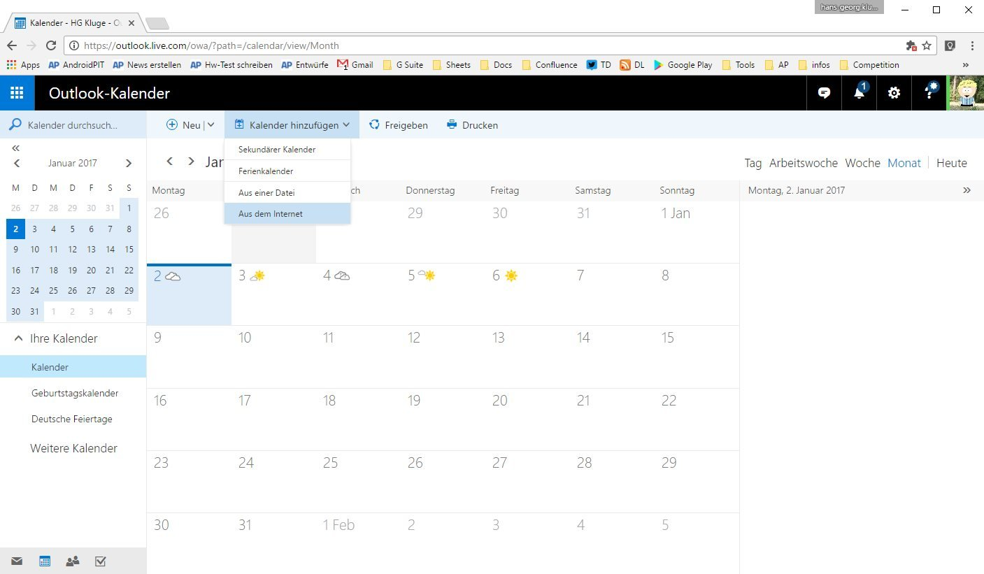 Acalendar Anleitung google-kalender mit outlook synchronisieren: so geht's
