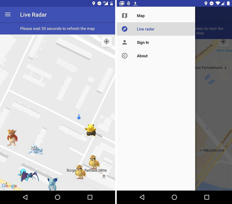 ANDROIDPIT pokemon go detector scanner pokelocator