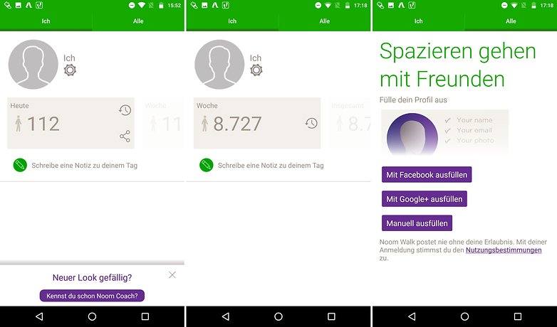 ANDROIDPIT schrittzaehler apps noom