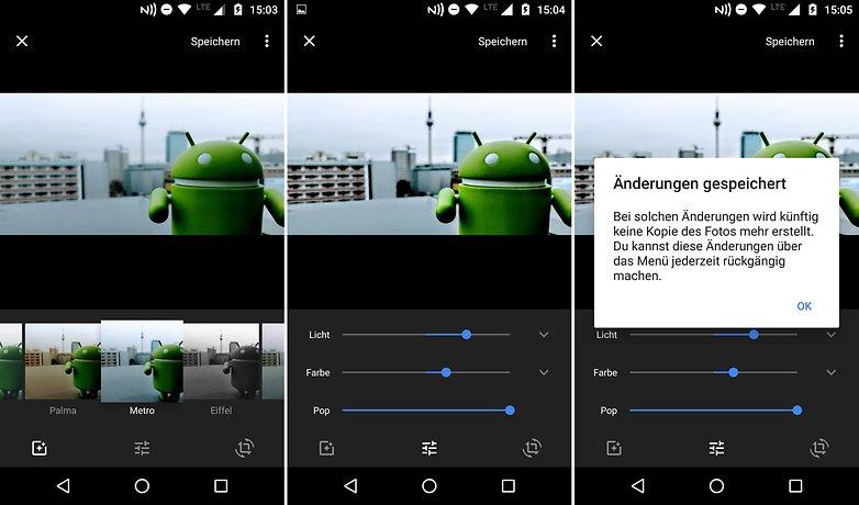 AndroidPIT bildbearbeitung google fotos