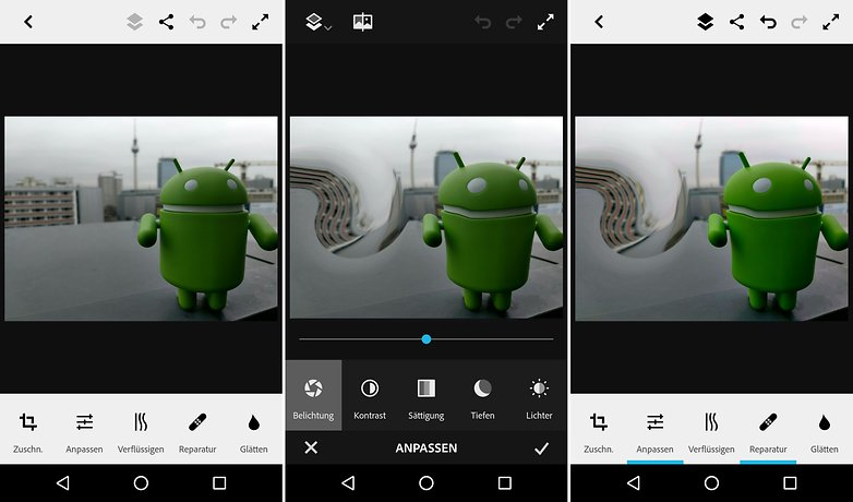 AndroidPIT bildbearbeitung photoshop fix