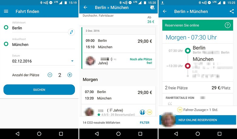 AndroidPIT reise apps blablacar
