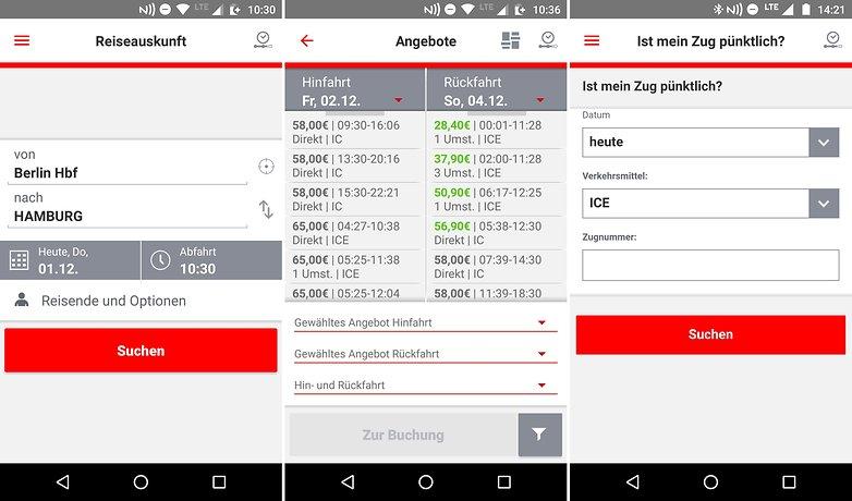 AndroidPIT reise apps db navigator