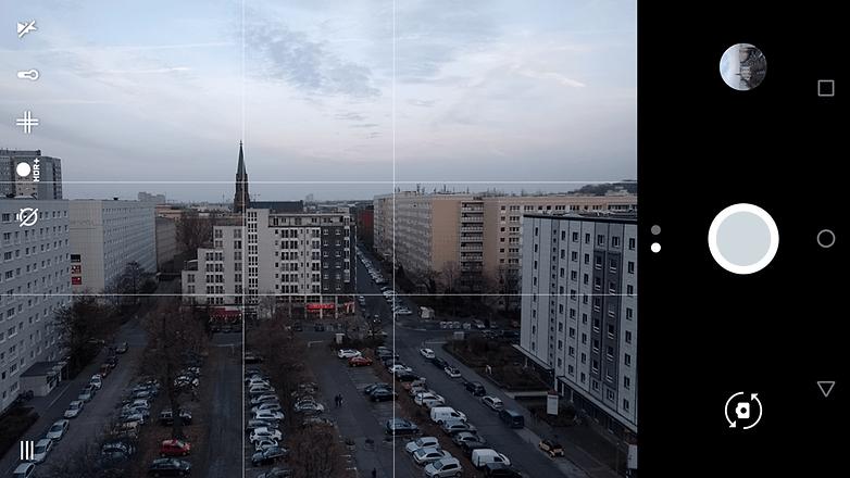 AndroidPIT smartphone fotoğraflarında altın schnitt