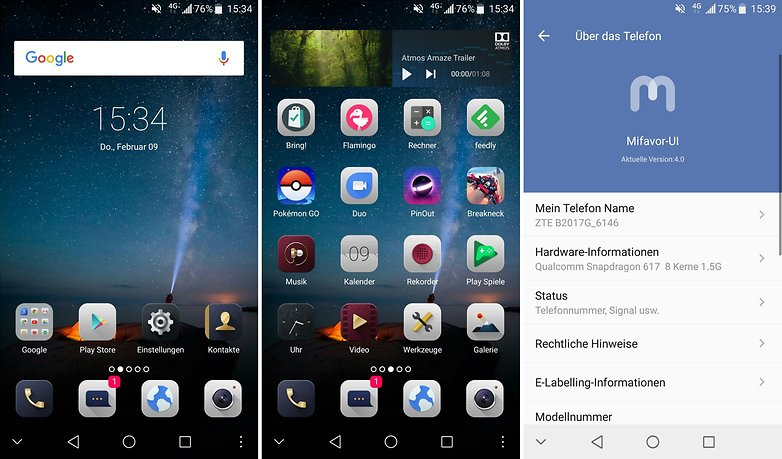 AndroidPIT zte axon 7 mini screenshots
