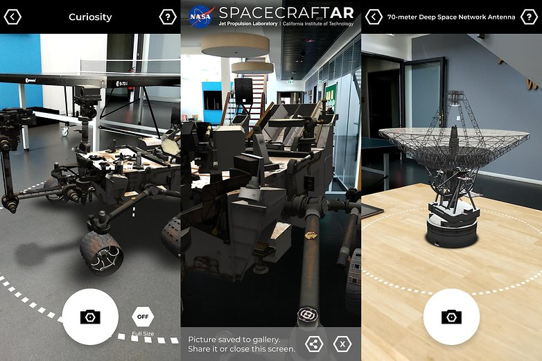 arcore apps spacecraft ar