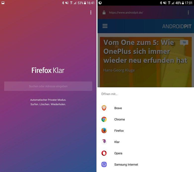 firefox klar browser