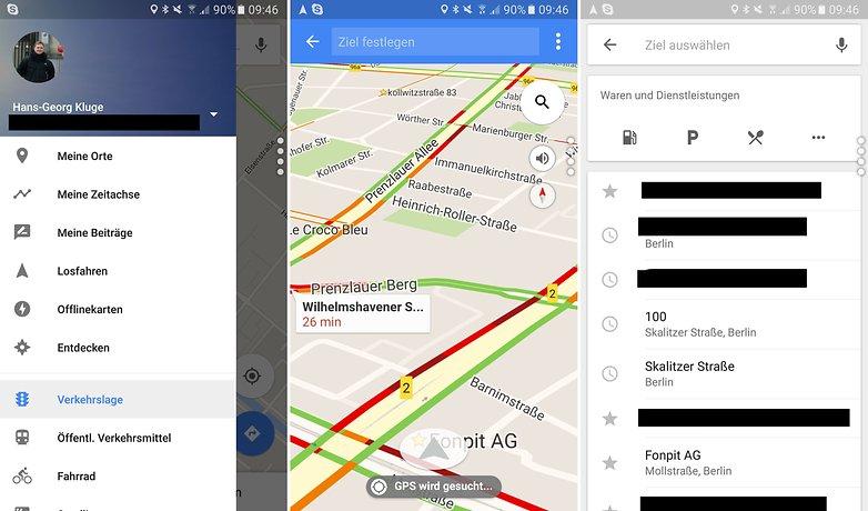 google maps losfahren