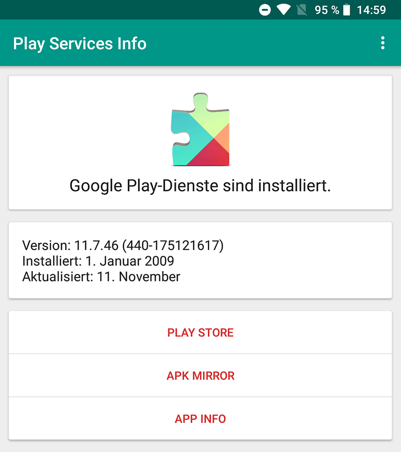 google play services info app