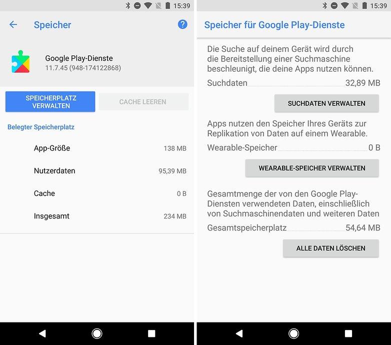 google play store funktioniert nicht play services daten loeschen
