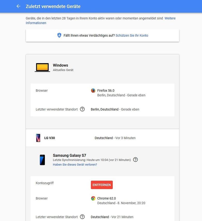 google play store geraete entfernen google konto 2