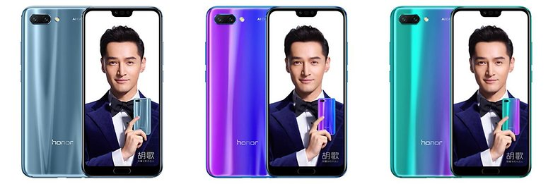 honor 10 back sides