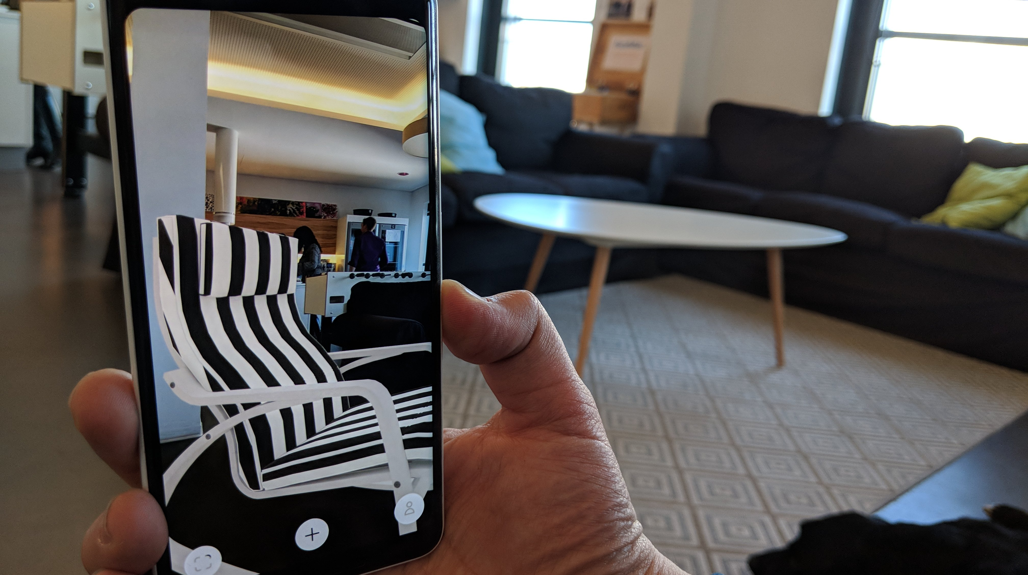 ikea place arcore app verr t welche couch wirklich ins wohnzimmer passt androidpit. Black Bedroom Furniture Sets. Home Design Ideas