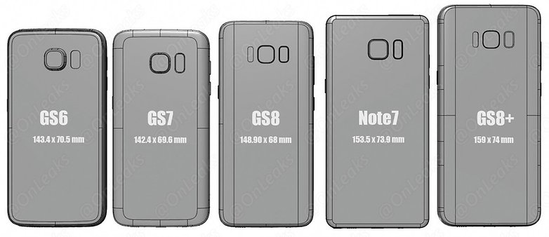 onleaks s8 size comparison 1