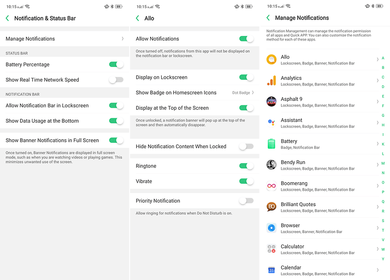 Coloros notifications