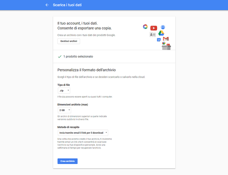 Google takeout screenshot 2 giusto