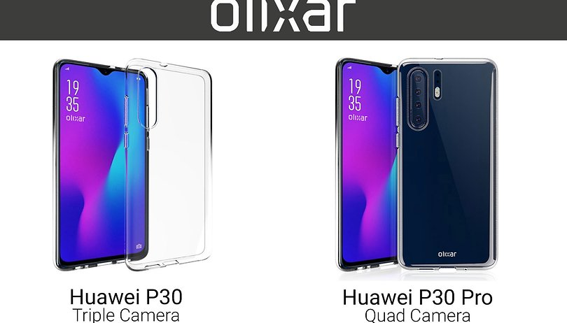 Four cameras? First high-res images of Huawei P30 and P30 Pro